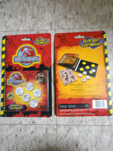 Jurassic Park 3 coins and sticker book