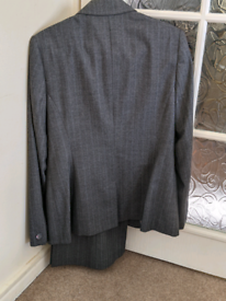 Next Grey Pinstripe Suit, size 14.
