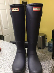 Hunter Boots Size 9 Navy Blue