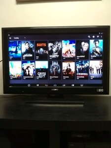 """Sony 32"""" lcd tv with remote control"""