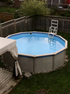 Selling 15 feet by 48 inch pool. Includes all accessories.