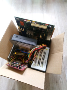 Small box of computer parts