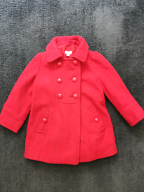 Monsoon red coat age 3-4