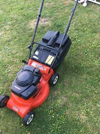 Rover Es/xl petrol lawn mower with deck wash