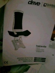 New Drive Medical Bellavita Auto Bath Tub Chair Seat Lift.