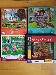 Puzzles Lot of 9 - various pieces