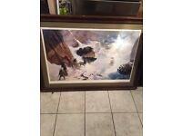 Large framed Paul Raymond Gregory print