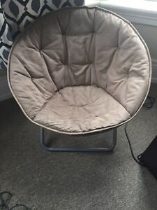 Brown saucer chair