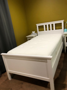Moving sale twin bed, office desk, rocking chair,  patio table