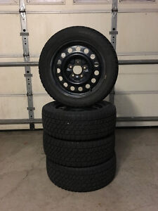Complete Set of Snow Tires - 205/55/R16 on steels (5x114.3)