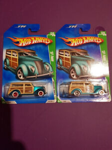 2009 Hot Wheels Super & Regular Treasure Hunt 37 Ford Woody Wood