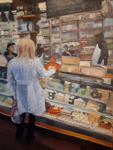 "Original Oil Painting -""Cheese Boutique"" Etobicote"