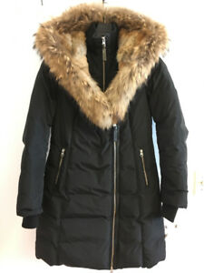 MACKAGE TRISH COAT PARKER WOMENS MEDIUM BLACK