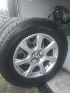 235/65/17 Audi Aluminum Rims and Winter Tire Package
