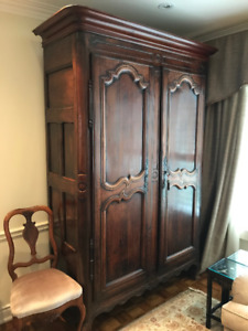 French Antique Armoir, late 1800's