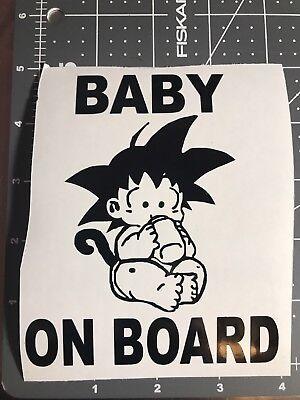 Dragon Ball Z Baby On Board W Bottle 4x5 vinyl decal Truck Car Window Sticker (Babies 4 Ball)