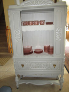 RARE Antique Walnut Cabinet~Made by NATIONAL CHAIR CO
