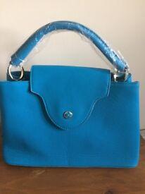 Women's LV designer handbag blue brand new