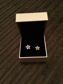 Pandora flower earings