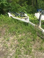 Remorque pour bateau 3 essieu