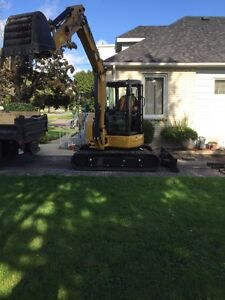 Mini excavator , small dump truck , rollers for rent.
