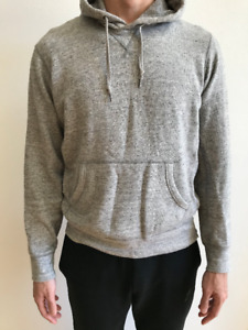 Heather Grey Custom Sidezip Hoodie SIZE M