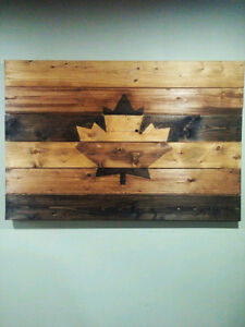 Solid Wood Rustic Wall Art HOLIDAY SALE!! London Ontario image 1