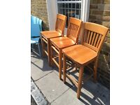 Solid wooden bar chairs £5 each to clear today