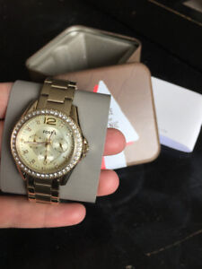 Fossil Watch - Riley Multifunction Gold-Tone Stainless Steel