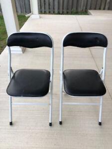 2 Folding Padded Chairs