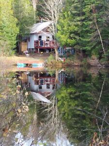 Chalet a louer sur le bord d,un lac 35$ jour