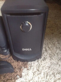 Dell complete sound bar system with sub woofer & 4 speakers, job lot at only £35,immaculate