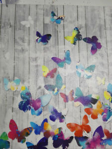 butterfly painting colourful white coulours peinture papillon