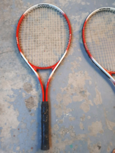 2 tennis racquets good contition