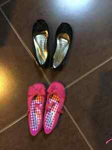 2 pairs of girl's shoes - size 11&1/2 , 12