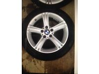 "BMW 3 SERIES F30/31 ""17"" STAR SPOKE 393 ALOY WHEEL AND TYRES"