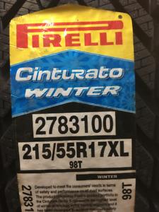 4 Brand New Pirelli Cinturato Winter $50 Rebate!!! 215/55R17
