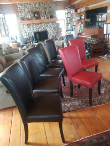 8 leather dining room chairs. Only $80!