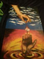 Original hand painted . Metaphor for life