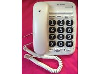 BT Big Button 200 corded telephone. As new condition. Argos no. 552/8666. £24.99