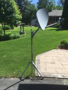 5' tall satellite dish stand