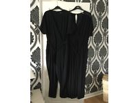 2x black trouser jumpsuits