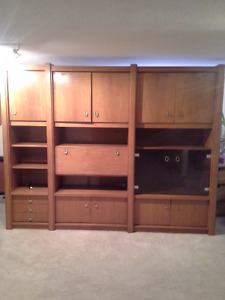 Lovely Teak (adjustable) wall unit  Good condition Teak unit.