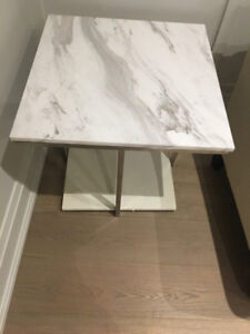 Square Marble White end table