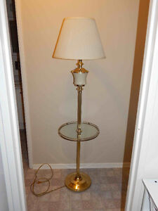Tri-light Floor Lamp with Table