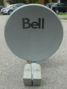 "LIKE NEW 22"" HD BELL SATELLITE DISH WITH DUAL LNB'S $40.00 FIRM!"