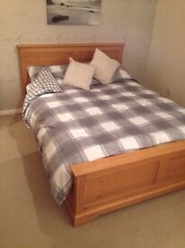 king size solid pine bed frame