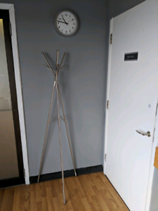 Coat and Hat Rack, and Wall Clock