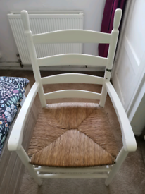 LARGE CHAIR WITH WICKER SEAT