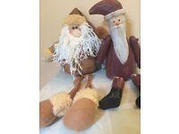 Christmas decorations Santas and reindeer